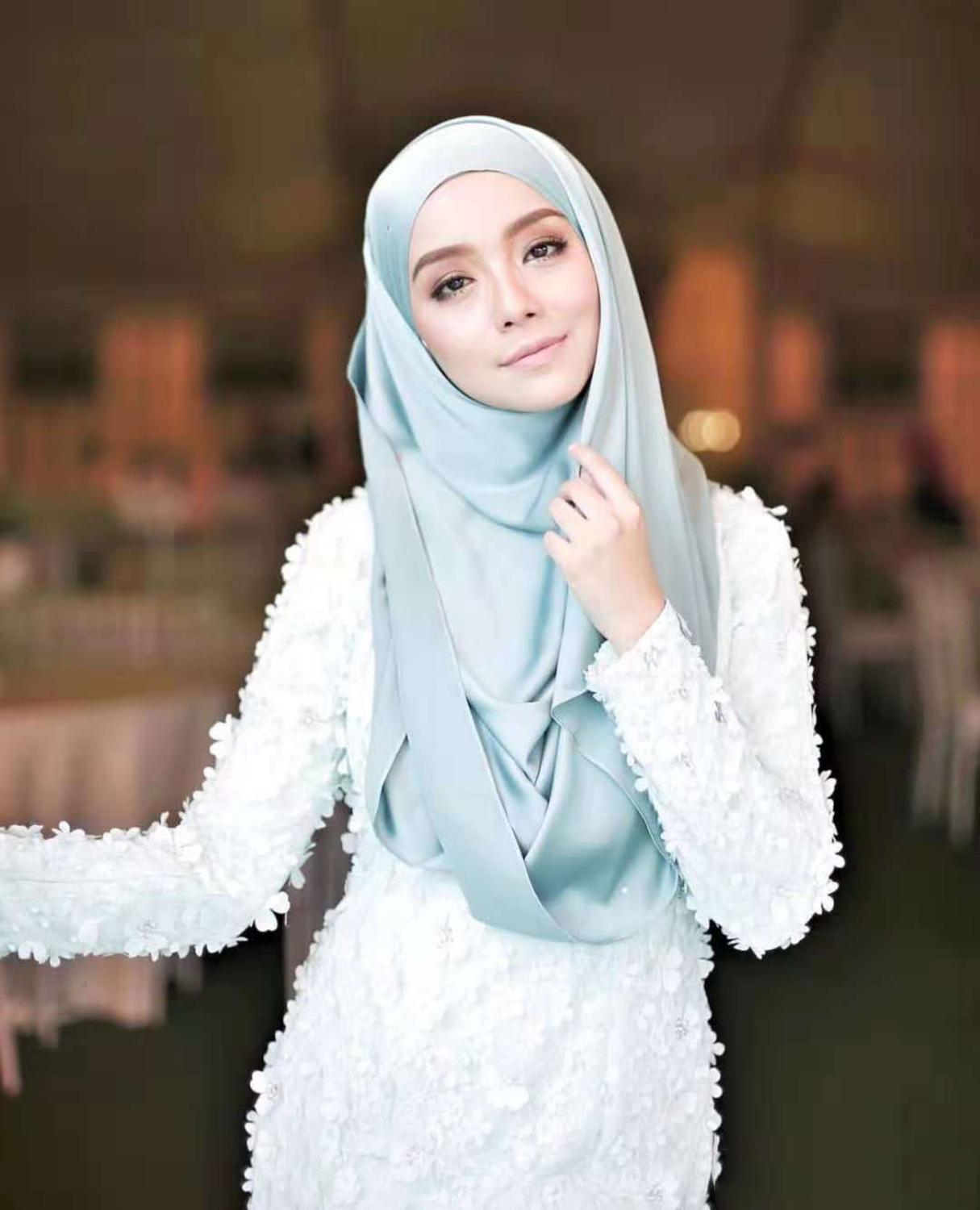 New Smooth Shiny Silk Feeling Satin Scarf Shawls Plain Solider Colors Thicken Hijab Muslim Scarves/scarf 19 Colors For Choose