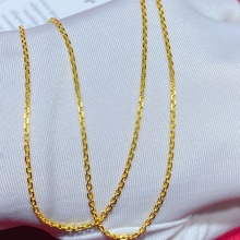 Necklace Gold-Chain Pure-Gold Real Fine-Jewelry Brightly Trendy New 24K AU Solid Classic