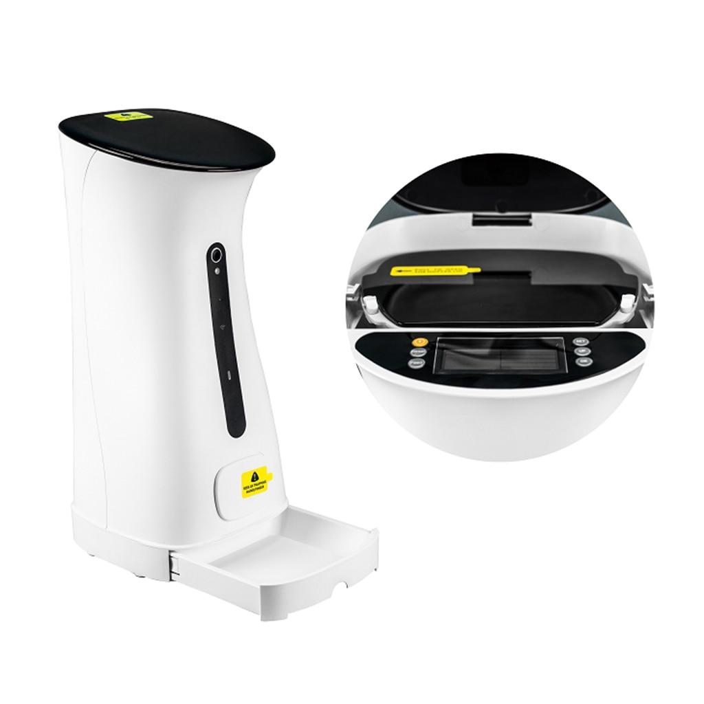 Automatic Cat Feeder Dog Food Dispenser Portion Control Voice Recorder EU Plug Pet Dog Supplies