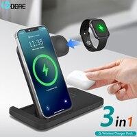 Supporto per caricabatterie Wireless Qi 20W per iPhone 12 11 XS XR X 8 3 in 1 Dock Station di ricarica rapida per Apple Watch 6 5 4 3 2 AirPods Pro