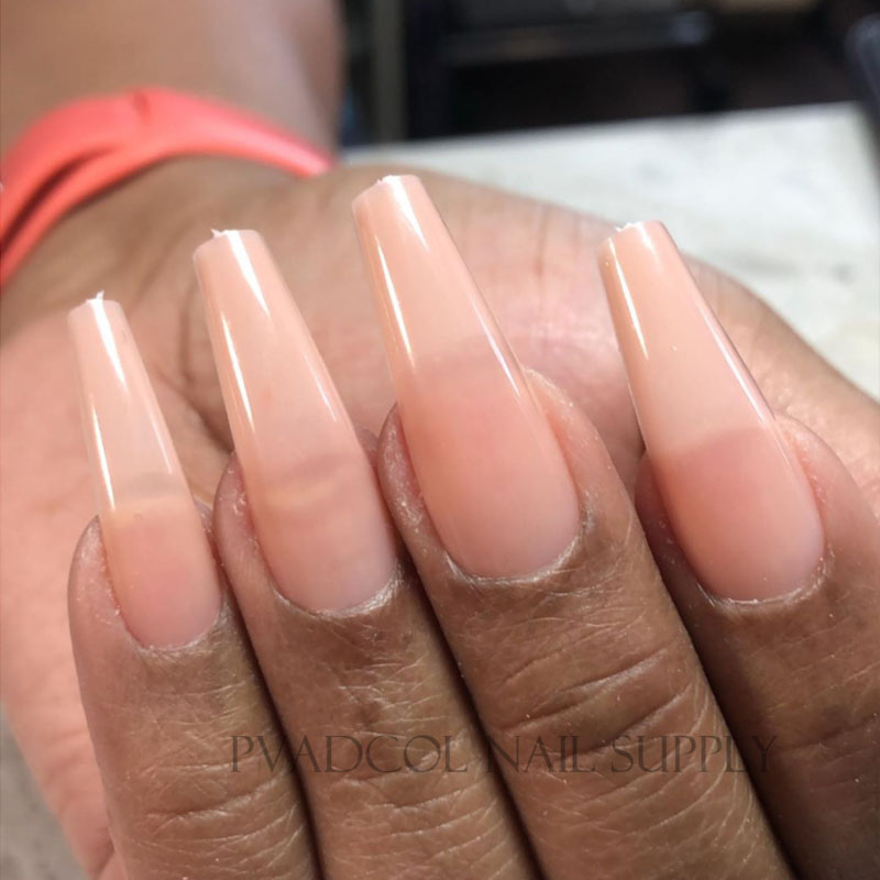 Gel X Full Cover Nails Base Color Sculpted Coffin Long False Tips For Nail Extension System