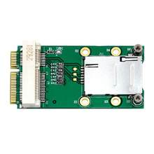 Mini PCI-E Adapter met SIM Card Slot voor 3G/4G WWAN HSPA MODEM LTE Mini Card GPS card voor desktop laptop computers(China)