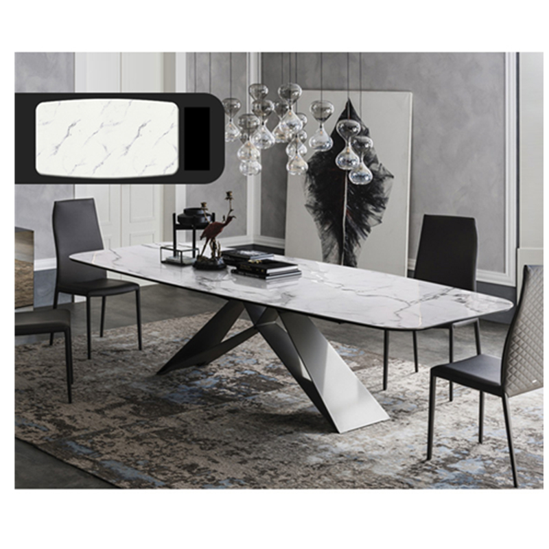 Dinning Table Set Marble Dining Table With 6pcs Chairs Kitchen Table Glass Table Dining Set Furniture Dining Tables Aliexpress