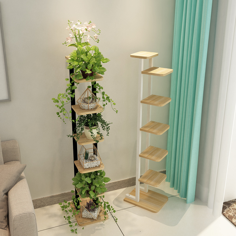 Within Flower Rack A Living Room Balcony Meaty Green Luo Tie Yi Chlorophytum Flowerpot Frame Multi-storey Tree Form Frame