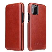 Pour iPhone 11 12 pro max étui à rabat en cuir véritable pour iPhone 6 6S 7 8 X Xs XR XS Max SE 2020 couverture aimantée