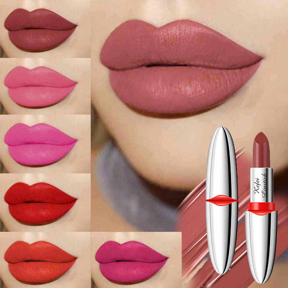 סיאם ציפור מט שפתון איפור לנשים קוריאני שפתון לאורך זמן אדום רובי רוז איפור שפתיים מקלות עמיד למים גוון קוסמטי