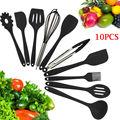 10 шт. силиконовая кухонная утварь Farberware ложка шпатель-ложки Тернер венчик набор инструментов для приготовления пищи