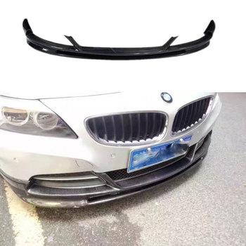 Z4 E89 3D Style Carbon Fiber Front Bumper Lip spoiler For BMW Z4 E89 standard Bumper 2009~2013 (not for m sport)