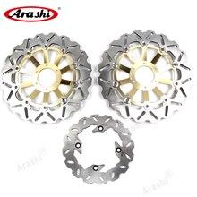 Arashi-discos de freno delanteros y traseros, rotores CNC de 296mm / 220mm para HONDA CBF HORNET 600 1998 1999, disco de freno flotante CB F HORNET 600