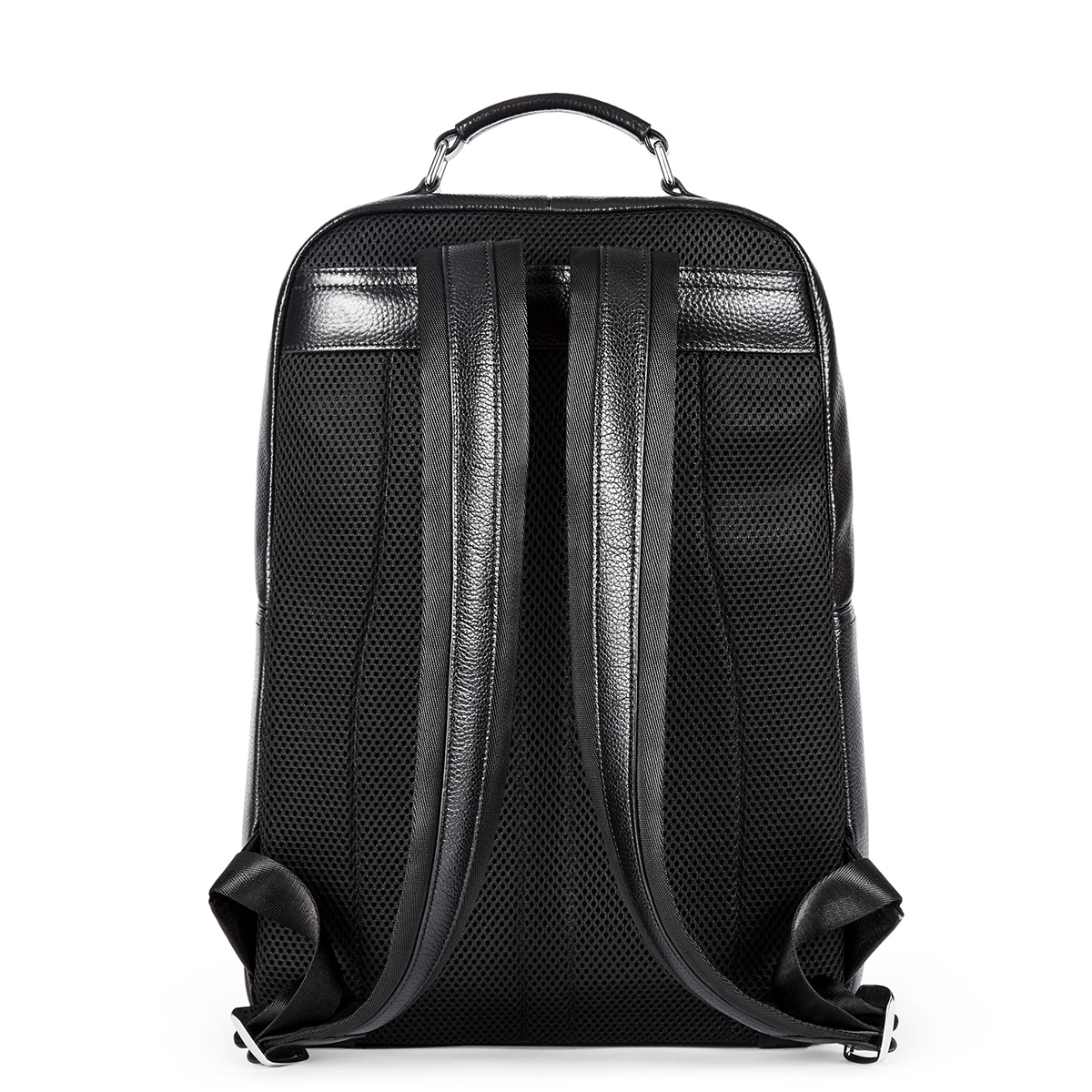 New Men/'s Genuine Cow  Leather Backpack Travel School Book Bag laptop Bag Black