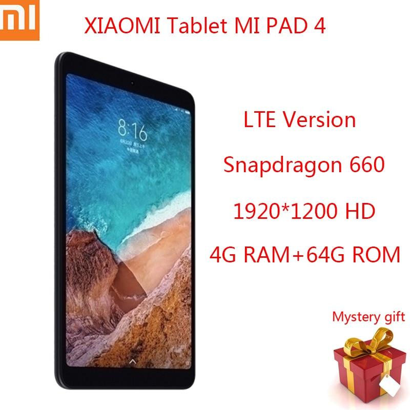 XIAOMI MI Pad 4 태블릿 Android Snapdragon 660 Octa Core 1920x1200 태블릿 PC 4G RAM 64G ROM 후면 카메라 13MP LTE Xiaomi 태블릿