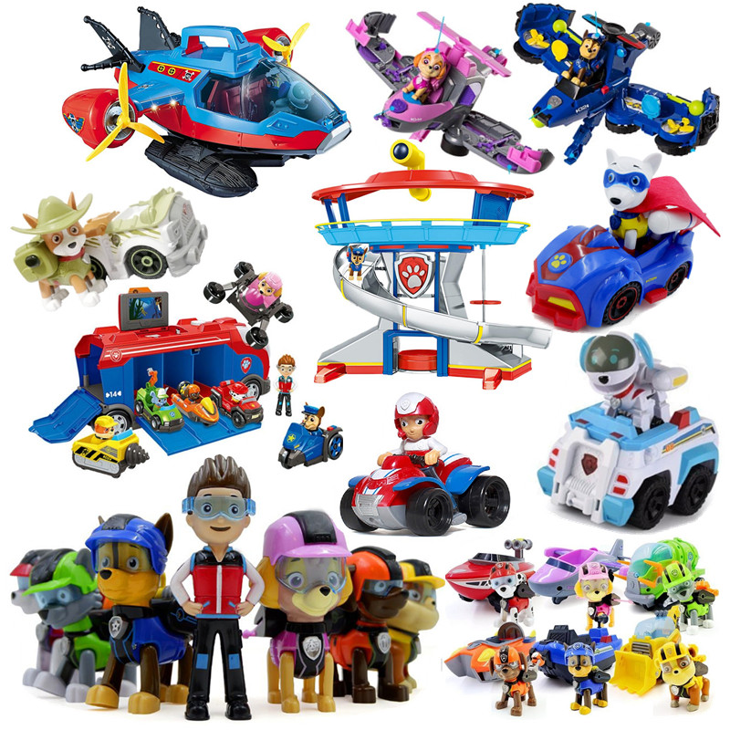 PAW PATROL Toy Rescue Vehicle Patulla Canina Pup Rescue Team Car Tower Watchtower Rescue Airplane Kids Birthday Christmas Gift