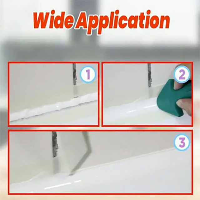 3 in 1 Silicone Caulking Finisher Tool Nozzle Spatulas Filler Spreader Tool 2