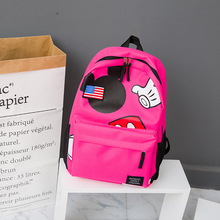 new Disney cute cartoon mickey mouse backpack student boy girl school bag street campus commuter travel kids gifts