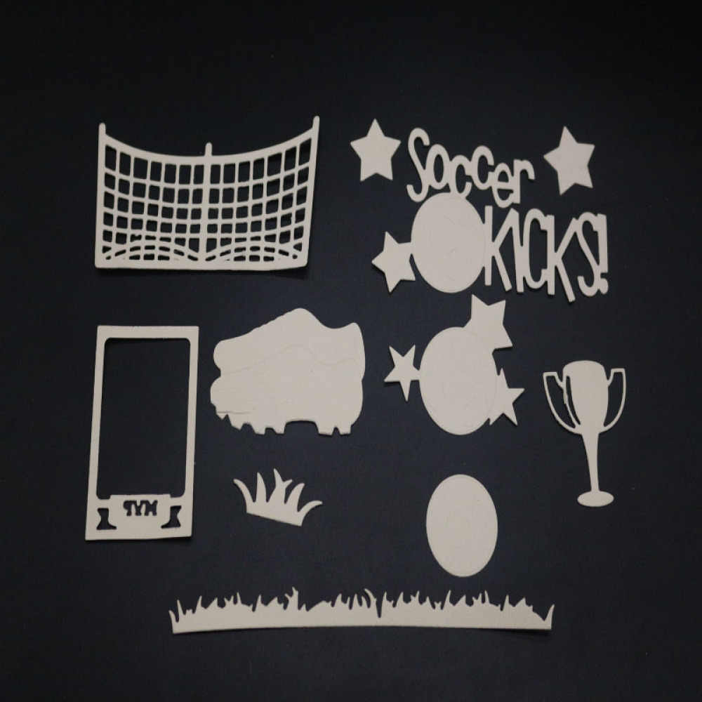 Пастбищный футбольный набор рамка для резки металла высечки формы для украшения скрапбукинга бумага ремесло нож формы лезвие удар трафареты