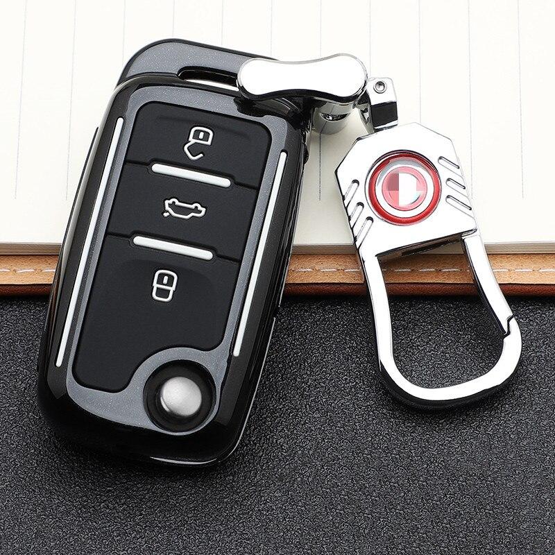 Чехол для автомобильного ключа, чехол для ключа для Volkswagen VW Golf 3 4 5 6 mk4 mk6 Passat b5 b6 b7 b8 cc Polo Tiguan mk2 Touran Jetta 6 Bora mk6