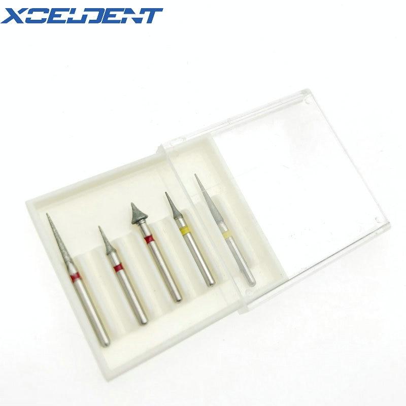 50pcs Dental Interproximal Enamel High Speed Diamond Burs Tooth Drill Set Dental Laboratory Equipment