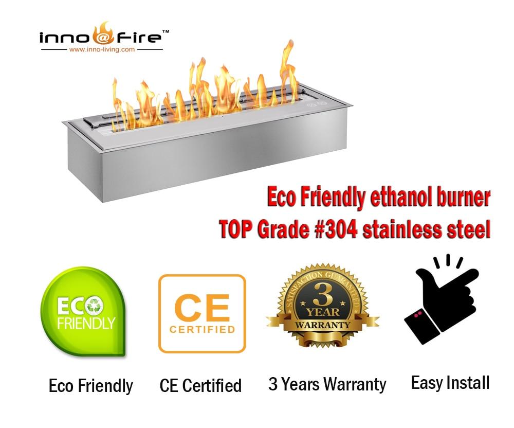 Inno Living Fire 62 Inch Ethanol Lareira Indoor Usage Fireplace
