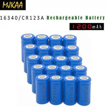 Tüketici Elektroniği'ten Şarj Edilebilir Piller'de 2019 10/20 adet 16340 CR123A 3.7V 1200mAh li ion şarj edilebilir piller