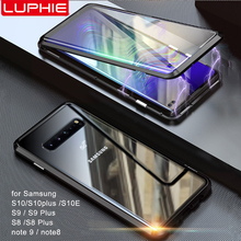 Luphie Full Wrapped Tempered Glass Magnetic Case for Samsung Galaxy S10 S10e Plus 5G S9 Note 8 9 Magnet Phone Cover