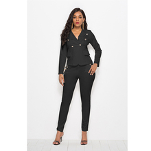 Women Pant Suits Formal Sexy New Casual Fashion Womens Suit Long Sleeve Blazer Korean Style for