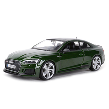 Bburago 1:24 audi rs5 coupe carro esporte estático morrer fundido veículos collectible modelo carro brinquedos