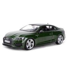 Bburago coche deportivo a presión para niños, Audi RS5 Coupe, vehículo estático fundido a presión, modelo coleccionable, Juguetes