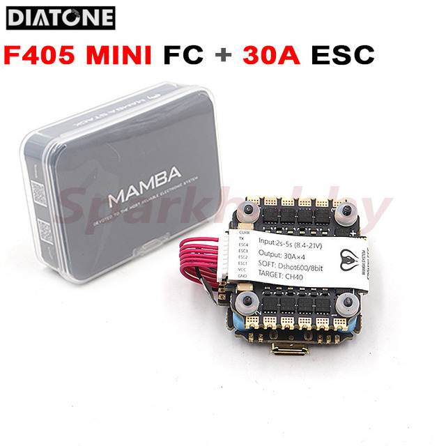 Diatone ממבה F405 מיני MK2 טיסה שליטה FC ו F30 מיני 30A 4in1 ESC מהירות בקר F405MINI סטאק מגדל עבור RC FPV מזלט