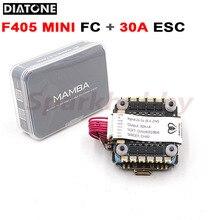 Diatone mamba f405 mini controle de vôo mk2 fc e f30 mini 30a 4in1 esc controlador de velocidade f405mini torre de pilha para rc fpv zangão
