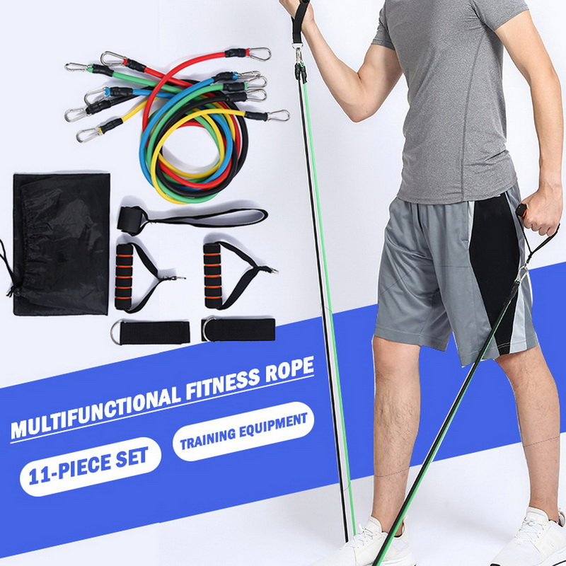 Latex Resistance Bands Set Exercise Training Yoga Tubes Pull Rope Open Rubber F