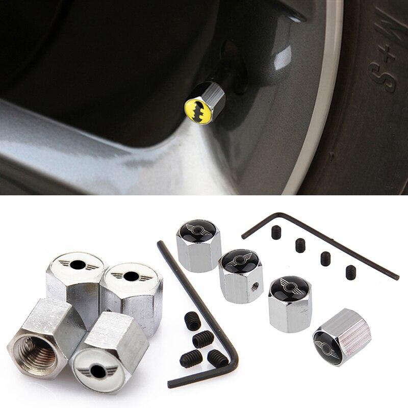 Car Styling Auto Wheel Anti-theft Valve Stem Caps Car-Styling For Mini Cooper Countryman Clubman R53 R55 R56 R60 F54 F55 F56 F60