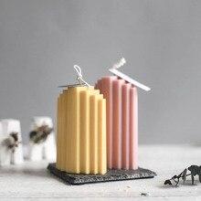 Корейская вертикальная форма для свечей квадратная полоса свеча ручной работы форма ароматическая свеча DIY акриловые трафареты
