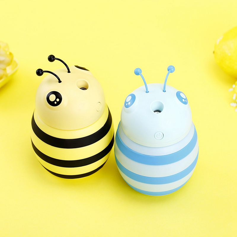 Creative Mini Bee Humidifier Essential Oil Diffuser Incense Lamp LED Night Light USB Aromatherapy Car Air Freshener Aromatherapy|Humidifiers| |  - title=