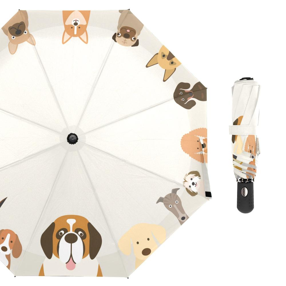 Dog Family Rain <font><b>Umbrella</b></font> Female Animal Folding <font><b>Umbrella</b></font> Rain Women Customized <font><b>Windproof</b></font> Fashion <font><b>Golf</b></font> <font><b>Umbrellas</b></font> for Kid 8 Ribs image