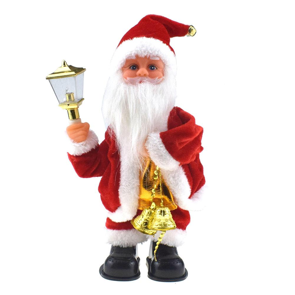 Santa Claus Xmas Decor Electric Musical Dancing Toy With Light Bell For Children Creating Cheerful Beautiful Atmosphere