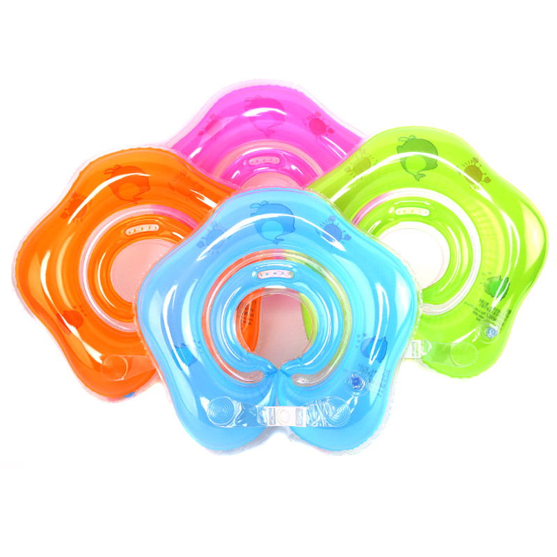 Baby Swimming Rings Double-decked Safety Floating PVC Inflatable Pool Float With Handle THJ99