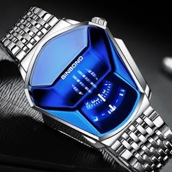 BINBOND 2020 New Men's Watch Black Technology Student Locomotive Trend Men's Casual Waterproof Quartz Watch Relogio Masculino