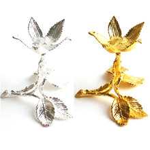 1PC Gold Sliver Leaf Shape Metal Craft Stand Pedestal Crystal Ball Base Foundation For Crystal Egg &Sphere Ball 2 feet passive crystal sliver 18 pcs