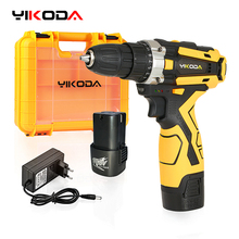Cordless-Drill Driver Power-Tools Electric-Screwdriver YIKODA Lithium-Battery Rechargeable