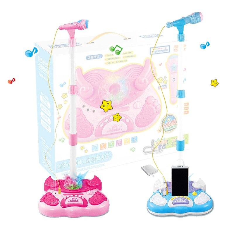 Enfants support Microphone Machine à chanter support Microphone chantant jouets-rose