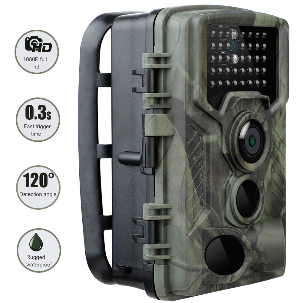 20MP 1080P Trail Hunting Camera HC800A IP65 Waterproof Night Version Photo 0.3s Trigger Time Wildlife Cam Home Safety