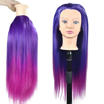26 Hair Training Head Practice Cosmetology Hair Doll Styling Hairdressing Mannequin Head with Hair 85% real human hair mannequin head for hair training styling practice professional hairdressing cosmetology doll head for braid