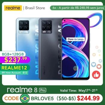 realme 8 Pro Global Version 8GB 128GB 108MP Camera 50W SuperDart Charge AMOLED Support B2/4 EU Plug Charger 1