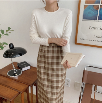 NEW Overszie Women Sweater 2 Piece Sets Womens Elegnat Knitted Suits Female knitting sweaters plaid skirt Sell separately 3