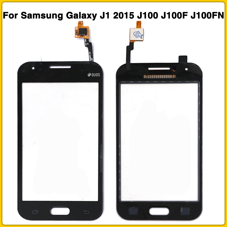 10PCS New TouchScreen For <font><b>Samsung</b></font> <font><b>Galaxy</b></font> <font><b>J1</b></font> <font><b>2015</b></font> <font><b>J100</b></font> J100F J100FN J100H Touch screen Panel Digitizer Sensor LCD front Glass image