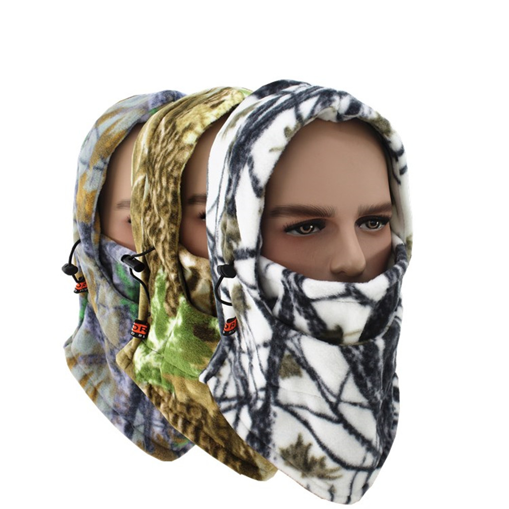 Camouflage Hunting Scarf Cap Balaclava Winter Hat Full Face Mask Windproof Cammo