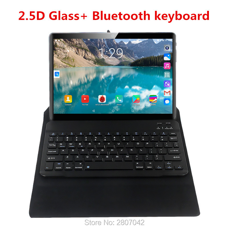 2.5D Glass 3G 4G FDD LTE 10 Inch Tablet Pc Octa Core 6GB RAM 64GB ROM  IPS Screen WIFI Android 9.0 GPS Bluetooth Keyboard