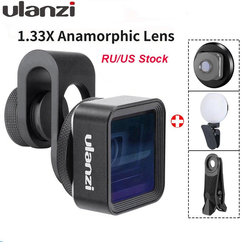 Lentille anamorphique Ulanzi pour téléphone Mobile 1.33X écran large vidéo écran large reflex film vidéomaker cinéaste objectif universel de téléphone