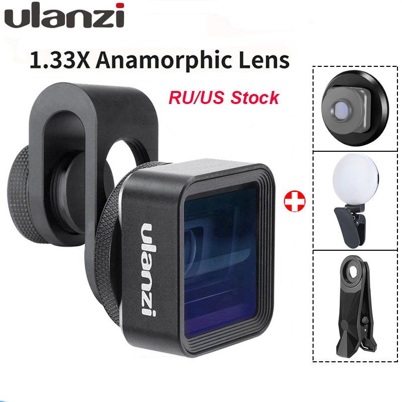 Ulanzi Anamorphic Lens For Mobile Phone 1.33X Wide Screen Video Widescreen Slr Movie Videomaker Filmmaker Universal Phone Lens-in Mobile Phone Lens from Cellphones & Telecommunications