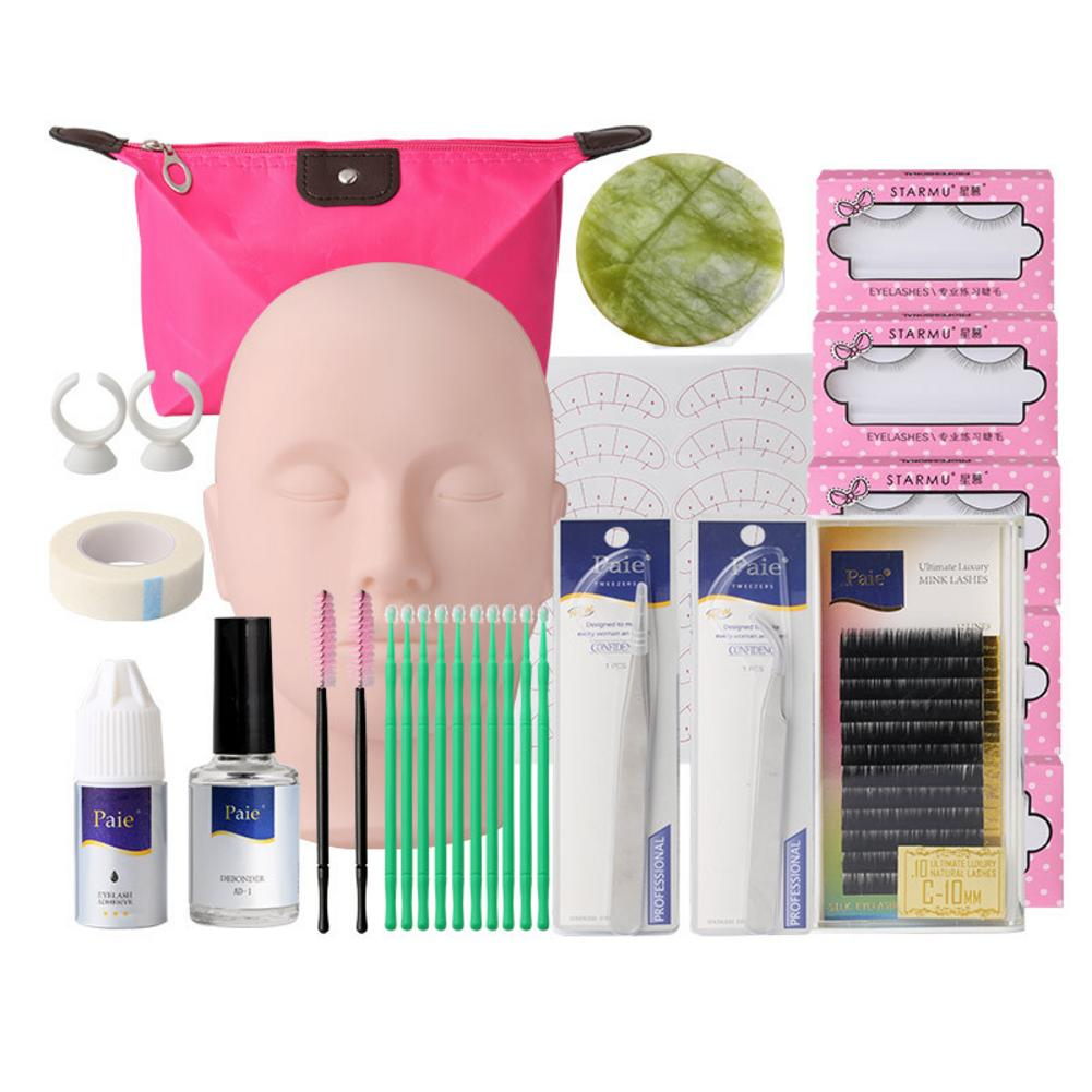 1/14 Pieces / Set Of Makeup Suit Training Eyelash Set False Eyelash Extension Grafting Practice Curling Plastic Tweezers Tool 4p